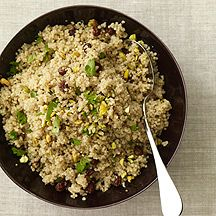 Quinoa Pilaf  5PointsPlus Value  A Passover recipe that'll add wonderful variety to your typical starchy side dishes. Try it with chopped dates and pecans, too.