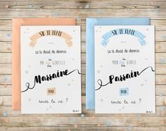 Cartes Annonce - Parrain et Marraine : Cartes par sweetstar