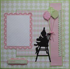 One Year Old! - Scrapbook.com Easily adapted for a boy! VERY cute!