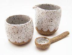 Zucker und Kaffeesahne Set  keramische Creamer  von susansimonini, $55.00