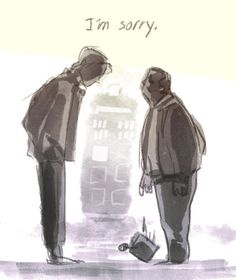 Oh my goodness this is heartbreaking. The Doctor goes back to speak with Rory's dad.