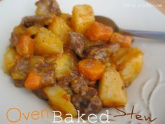 Life as a Lofthouse (Food Blog): Oven Baked Stew Beef with Potatoes and Carrotts