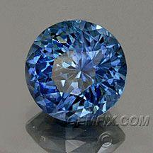 round blue montana sapphire from Gemfix $2130