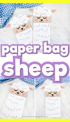 Sheep Paper Bag Puppet, This brown paper bag sheep puppet for kids is a fun and easy craft to make for spring or Easter! It's great for preschool, kindergarten and elementary. Animal Crafts For Kids, Spring Crafts For Kids, Puppet Crafts, Craft Stick Crafts, Crafts For Kids To Make, Projects For Kids, Kids Crafts, Preschool Kindergarten, Preschool Ideas