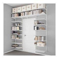 IKEA - ALGOT, Crémaillère/tablettes, Les éléments de la série ALGOT se combinent de nombreuses façons différentes et peuvent ainsi facilement s'adapter à vos besoins et à l'espace dont vous disposez.Peut aussi s'utiliser dans la salle de bain et dans d'autres zones humides, à l'intérieur de la maison.Les consoles sont à accrocher sur les crémaillères ALGOT partout où vous avez besoin d'une tablette ou d'accessoires ; aucun o...