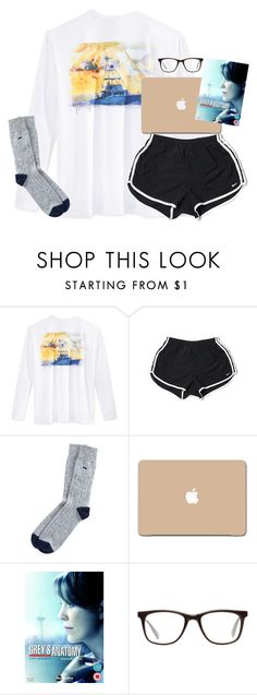 """aye yo gurl got a concussion..."" by kaley-ii ❤ liked on Polyvore featuring Guy Harvey, NIKE, 3M, Grey's Anatomy and GlassesUSA"