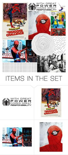 """""""70's Spider-Man"""" by frozendecembermoon ❤ liked on Polyvore featuring art"""