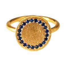 Zaffiri blu anello in oro massiccio 18k di DragatakisJewellery