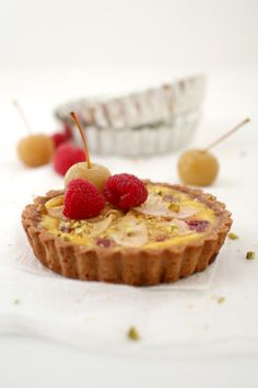 Pear and Raspberry Flan Tart :: Cannelle et VanilleCannelle et Vanille - recipe with berries Prestige