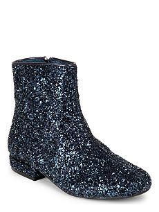 LITTLE MARC JACOBS Glitter leather boots 6- 9 years
