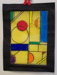 WHAT'S HAPPENING IN THE ART ROOM??: 4th GRADE--Wright Stained Glass -- inspiration
