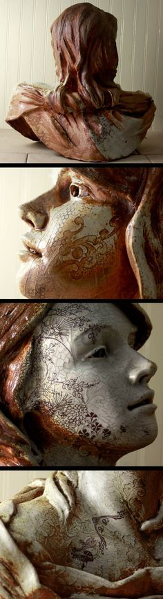 "incredible scupture - ""Bee Queen""    Interesting finish"