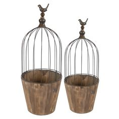 I pinned this 2 Piece Pavia Birdcage Planter Set from the Paget Studios event at Joss and Main!