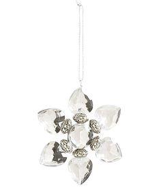 K&K Interiors Crystal Flower 4 Ornament | zulily