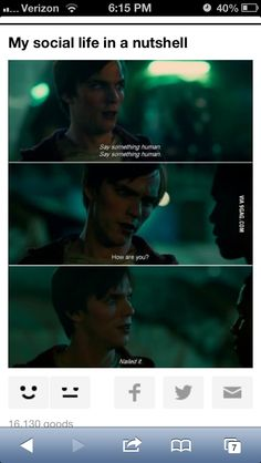 Say something human/ Warm Bodies - maybe that's why I enjoyed this movie so much, lol