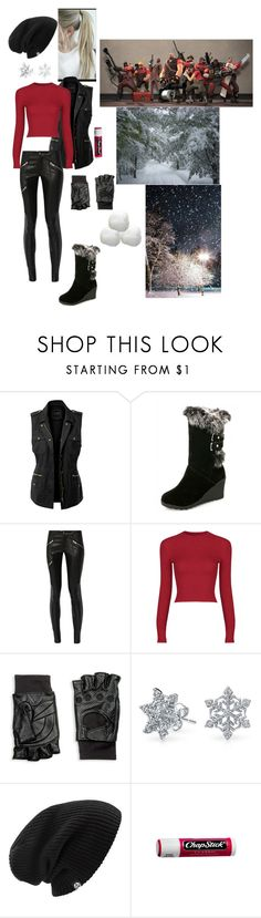 """Snow Day (Team Fortress 2)"" by fifthelement ❤ liked on Polyvore featuring LE3NO, Mason by Michelle Mason, Hilts Willard, Bling Jewelry, Burton and Chapstick"