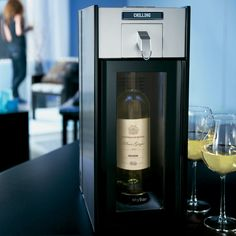 Entertain in style with the only at home wine system that chills, pours and preserves.