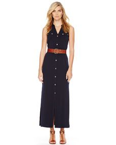 Black n' Cognac Maxi Shirtdress