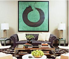 Glamour Obsession: Statement-Making Abstract Art - Formal Living Room Art