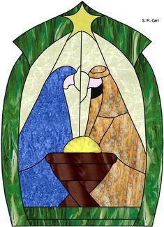 Nativity / para hacer en repujado o esmalte sobre madera