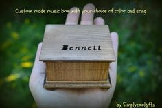 music box wooden music box custom made music by Simplycoolgifts, $54.00