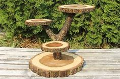 Large Log Elm Wood Rustic Cake Cupcake Stand Wedding party shower in Home & Garden, Kitchen, Dining & Bar, Dinnerware & Serving Dishes, Cake Stands | eBay