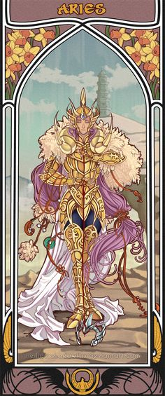 "Mucha Style - "" #Aries"" Illustration in style of ""Alphonse Mucha"" by ""HeiligerShadowfax"" on @deviantART"