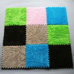 New 9pcs Pile Floor Covering EVA Foam Puzzle Floor Mats Play Mat GYM Baby Kids