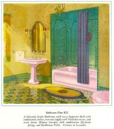 1927 Bathroom Colors Amazing If I Had A Period Spanish Style Home