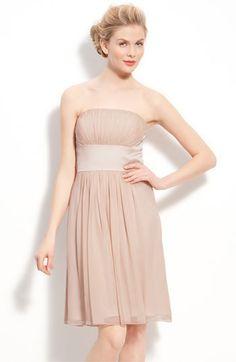 @Christie LeBouef  Donna Morgan Chiffon & Satin Strapless Dress | Nordstrom