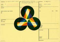 Karel Martens  Untitled, circa 1991  letterpress monoprint on catalogue card from the Stedeljk Museum Amsterdam,   artist Hamish Fulton  11 ⁵⁄₈ × 8 ¹⁄₈ in. (294 × 206 mm)