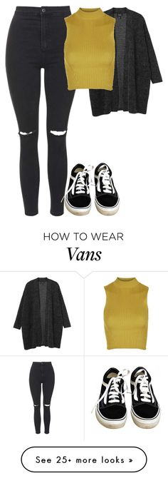 """Untitled #1511"" by elvirasuperman on Polyvore featuring Monki, Topshop and Vans"