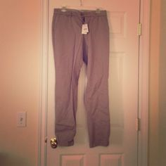 Cotton jcrew chinos Putty colored and straight leg. New with tags! J. Crew Pants