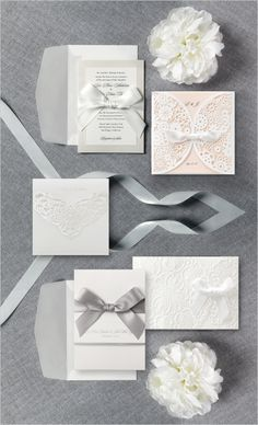The Petite Collection from B Wedding Invitations. #riseandshine http://www.bweddinginvitations.com