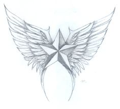 nautical star with wings by alpha-seraphin on DeviantArt