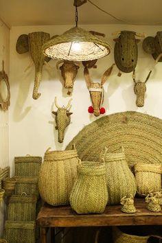 2-cabezas-esparto-animales-arte-africano-esculturas-tienda-decoracion-etnica-boho-gijon-asturias-online-alfombras