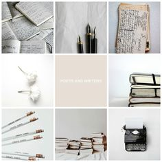 Writer/Writing aesthetic collage by me
