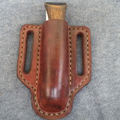 Opinel 9 Leather Pancake Sheath  folding knife pouch pocket