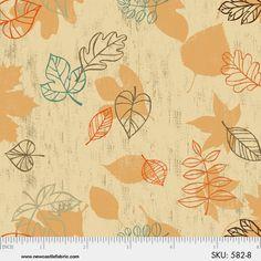 1YD Rustic GATHERINGS FALLING LEAVES Brown Thanksgiving Autumn Newcastle Fabric #NewcastleFabrics