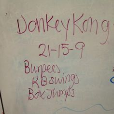 Donkey Kong WOD - this is awesome. @Graham Lutz