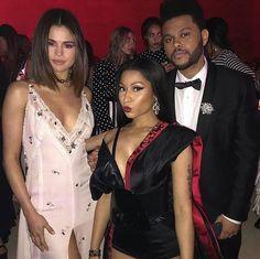 Selena, Nicki Minaj, The Weeknd at Met Gala 2017