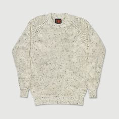 Natural Tuck Rib Crew Neck Sweater