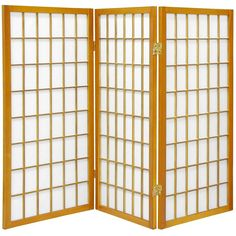 Oriental Furniture 3 ft. Tall Window Pane Shoji Screen - 3 Panel - Honey, Beige & Tan
