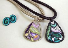 Marion Hunziker- Larsents macrame jewelry.