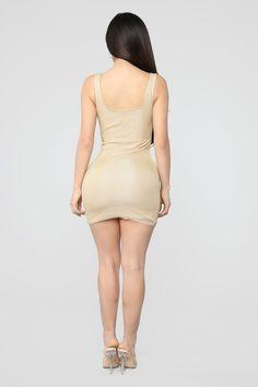 August Glitter Mini Dress - Gold White Midi Dress, Gold Dress, Janet Guzman, Bikini, Leggings, Fashion Nova Models, Gold Fashion, Cut And Style, Tank Dress