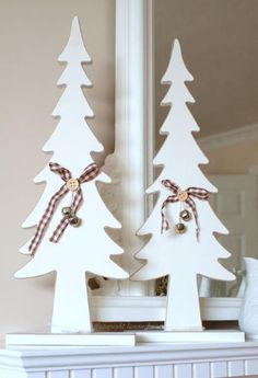 white wood christmas tree - Google Search