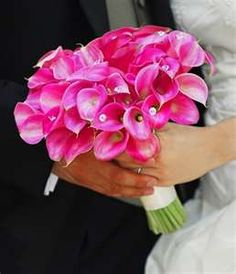 pink calla lilly bouquet