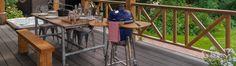 Composiet Vlonderplanken terras Outdoor Tables, Outdoor Decor, Outdoor Furniture Sets, Home Decor, Google, Garden, Garten, Lawn And Garden, Interior Design