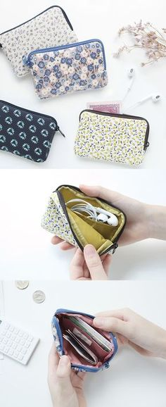 What better way to carry your cards than with an adorable, water resistant, zippered little pouch? The Warm Breeze Card Pouch is great for holding earphones and other small accessories, too! ^.~*