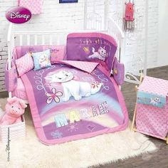 Disney Aristocats Marie Bedroom Decor 9PC Crib Bedding Nursery Set Shower Gift